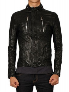 s 11 s/s leather jacketblack