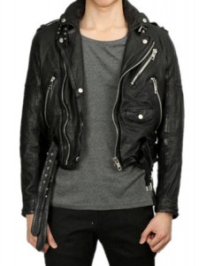 *rosum11 s/s leather jacket