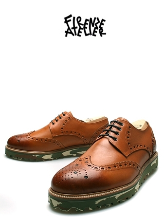 CAMOU WING-TIP DERBY