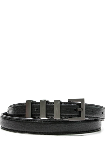 SL BLACK SKINNY 3 RING BELT