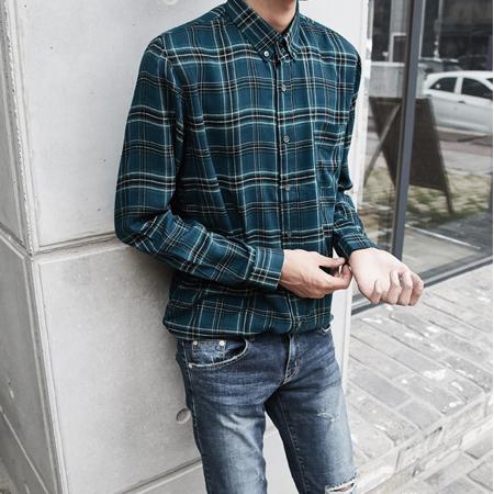 텐셀 체크 셔츠